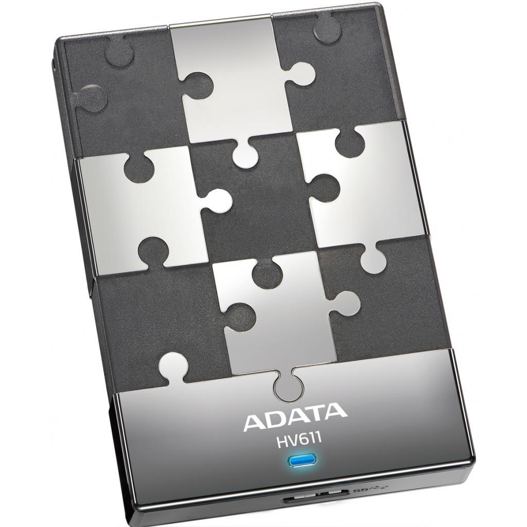 """Внешний жесткий диск 2.5"""" 500GB ADATA (AHV611-500GU3-CBK)"""