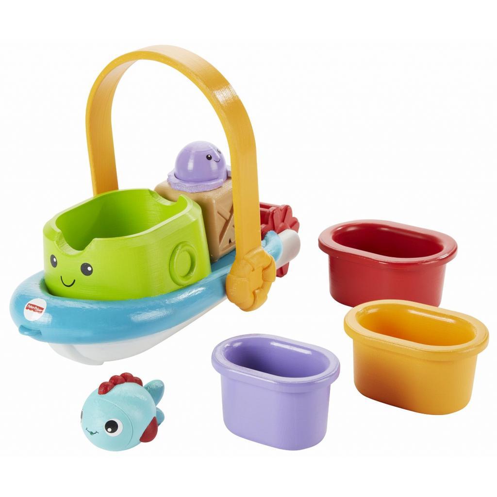 Игрушка для ванной Fisher-Price Корабль и лодочки (BFH59) изображение 5