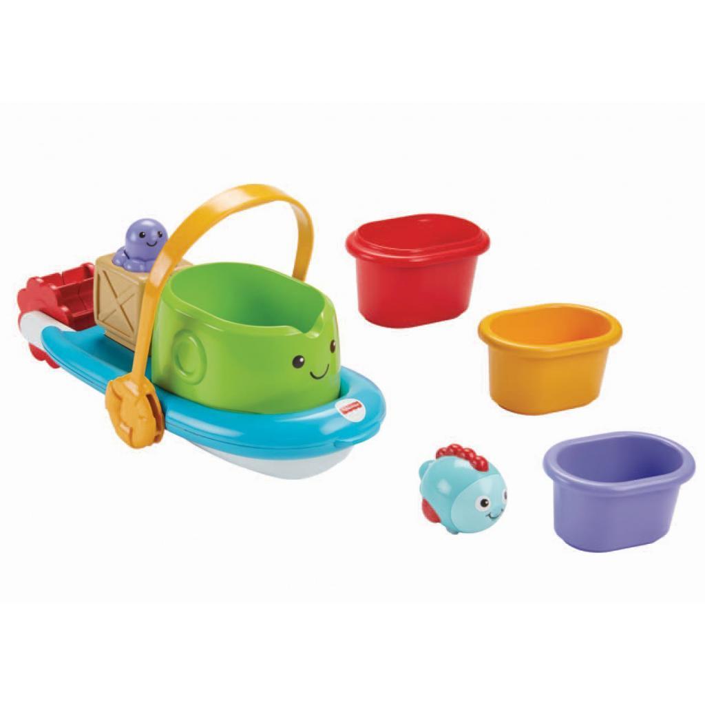 Игрушка для ванной Fisher-Price Корабль и лодочки (BFH59) изображение 6