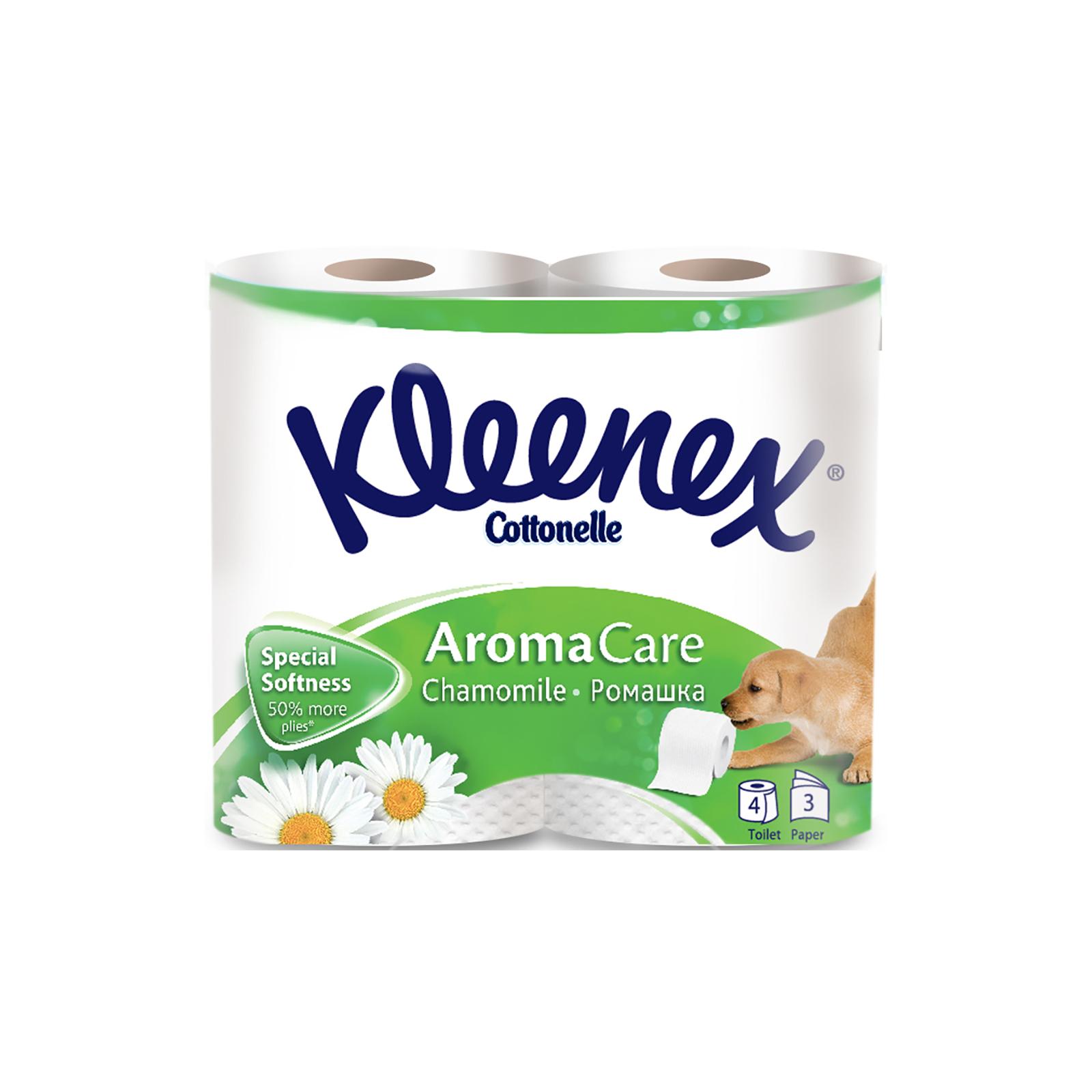 Туалетная бумага Kleenex Ромашка 3-слойная 4 шт (5029053541600)