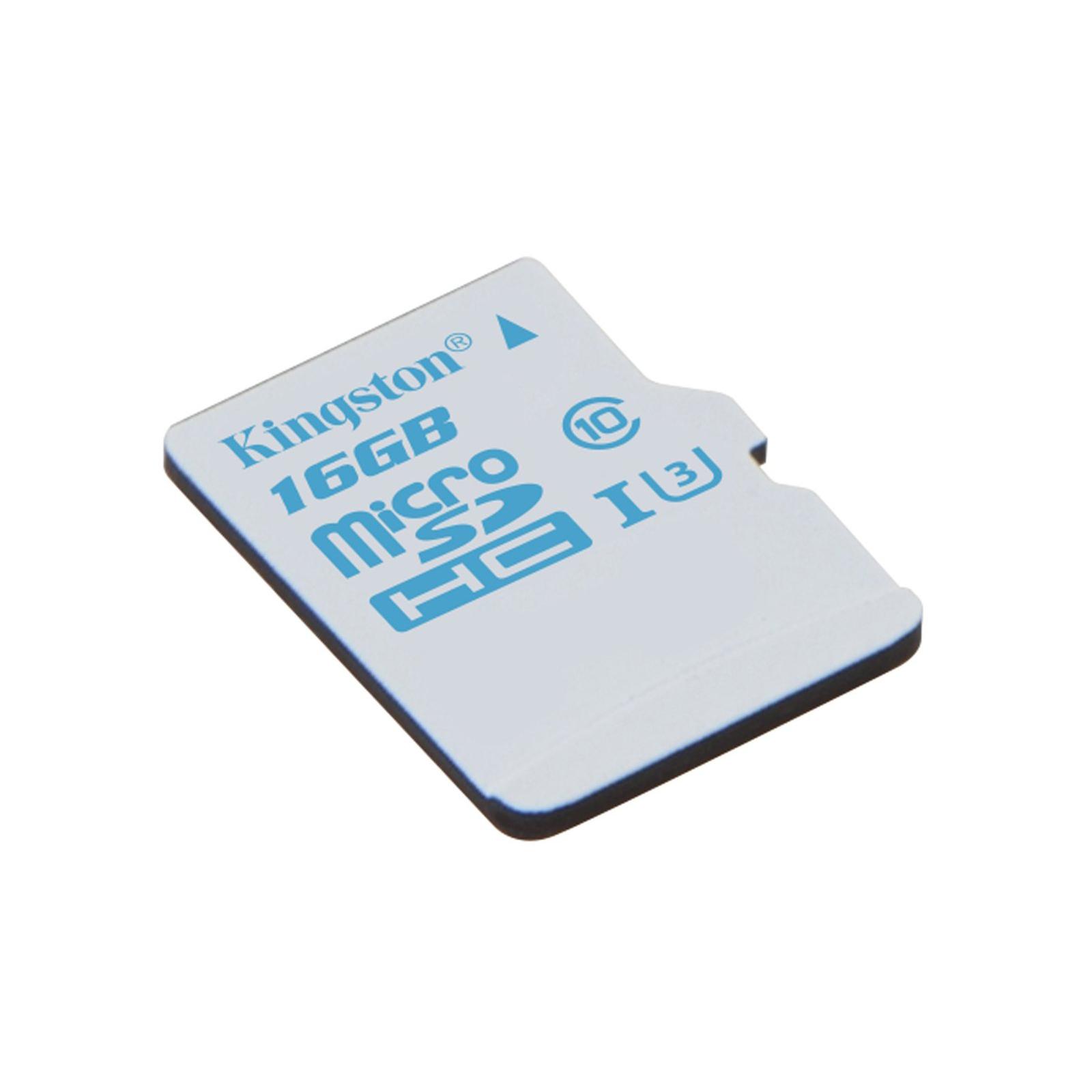 Карта памяти Kingston 16GB microSDHC class 10 UHS-I U3 (SDCAC/16GBSP) изображение 2