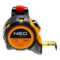 Рулетка NEO стальная лента, 5 м x 25 мм, фиксатор selflock, защелки (67-205)