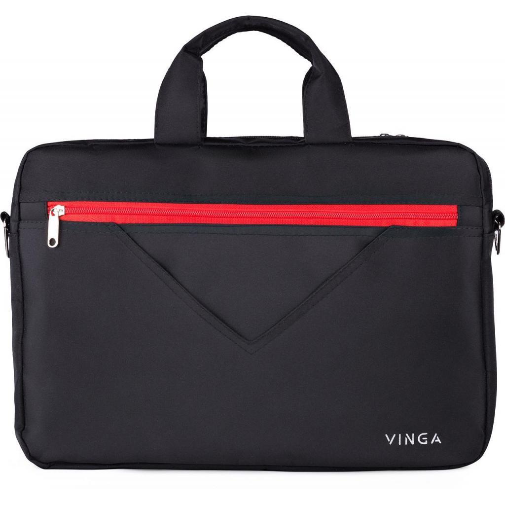 "Сумка для ноутбука Vinga 15.6"" NB250BR black-red (NB250BR) изображение 2"
