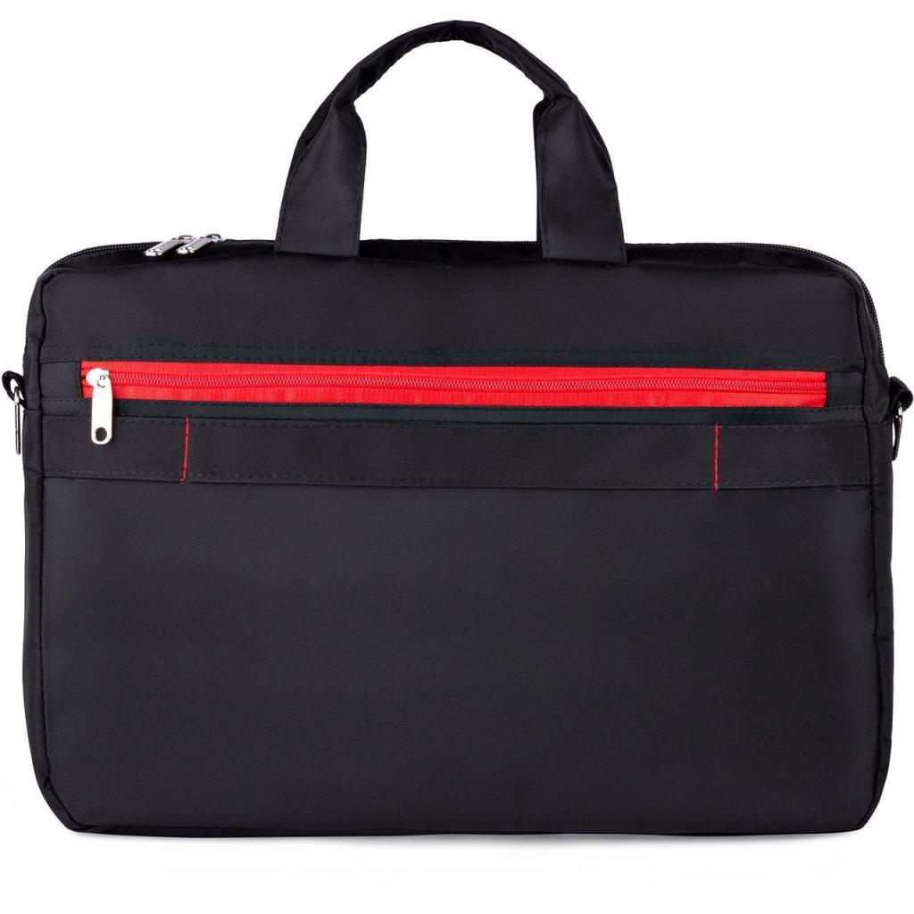 "Сумка для ноутбука Vinga 15.6"" NB250BR black-red (NB250BR) изображение 3"