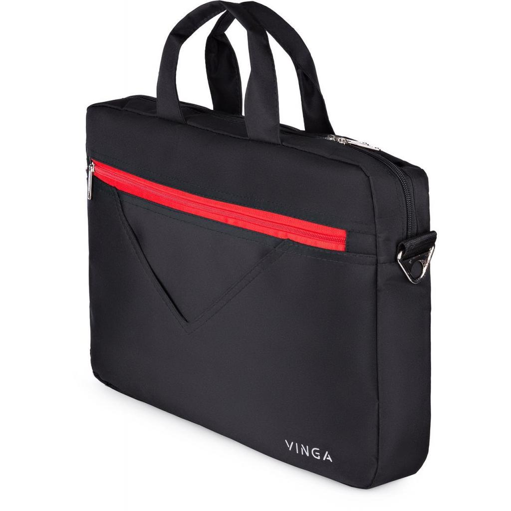 "Сумка для ноутбука Vinga 15.6"" NB250BR black-red (NB250BR) изображение 4"