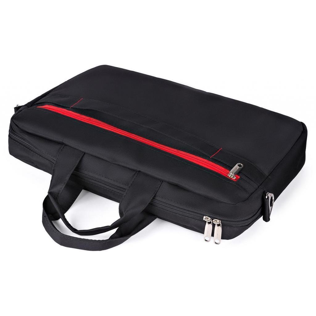 "Сумка для ноутбука Vinga 15.6"" NB250BR black-red (NB250BR) изображение 8"