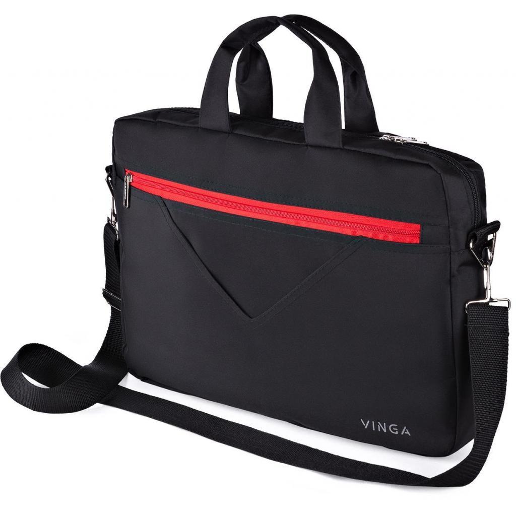 """Сумка для ноутбука Vinga 15.6"""" NB250BR black-red (NB250BR)"""