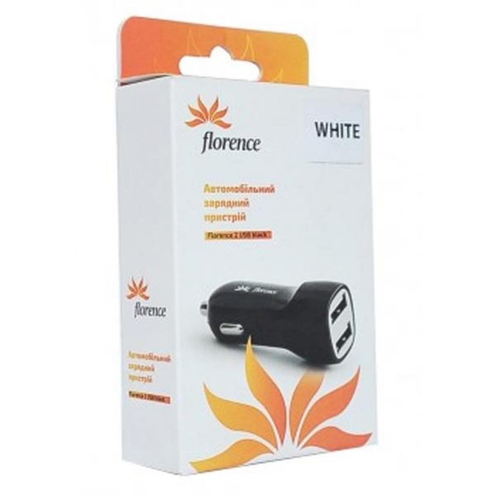 Зарядное устройство Florence 2*USB, 2.1A white (CC21-2USBWH) изображение 2