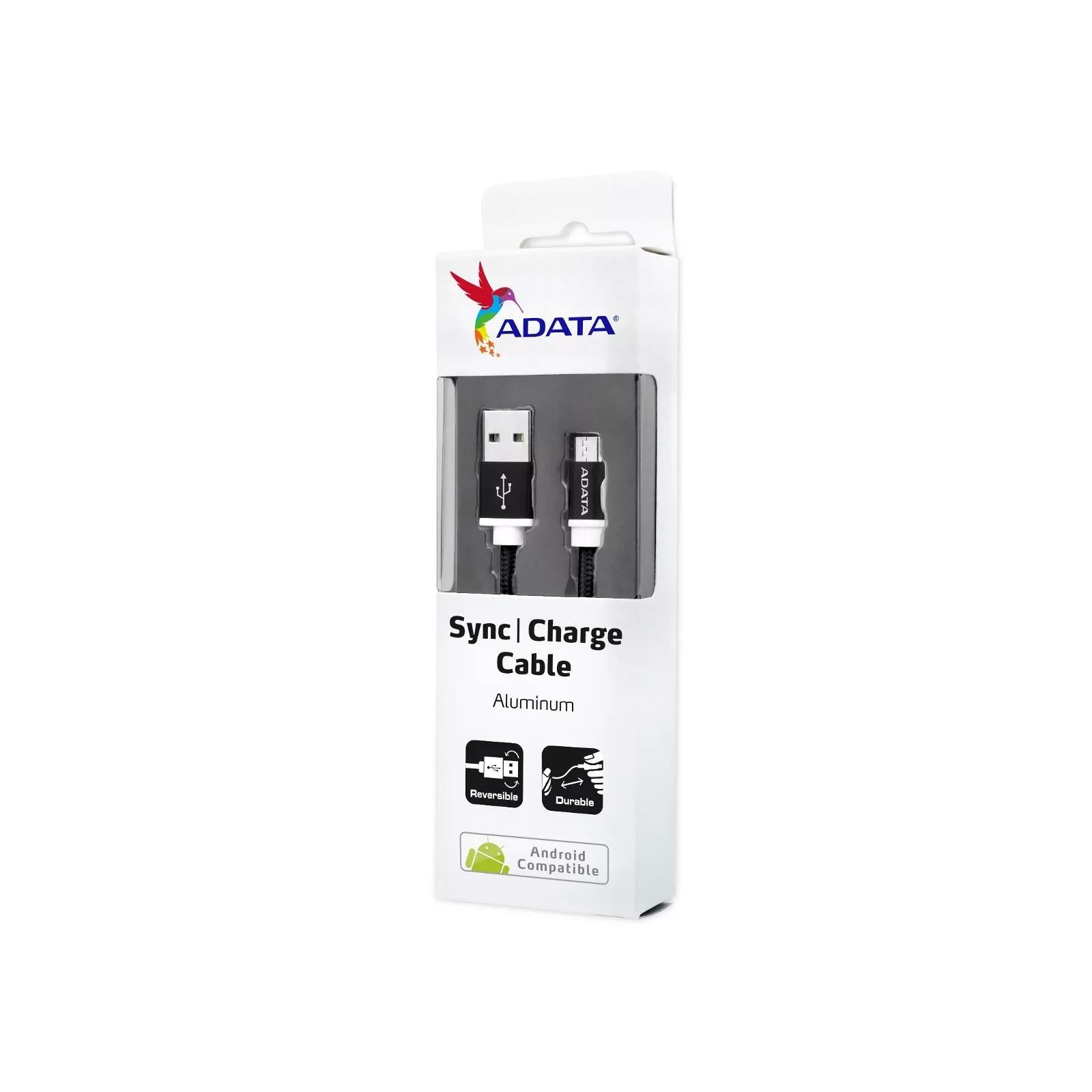 Дата кабель USB 2.0 AM to Micro 5P 1.0m Black ADATA (AMUCAL-100CMK-CBK) изображение 4