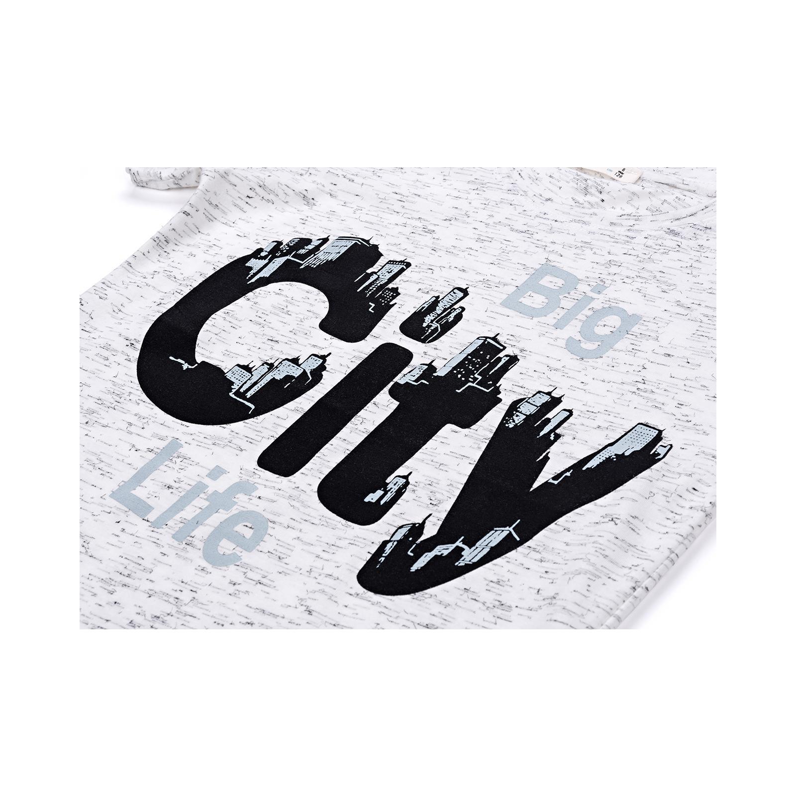 """Футболка детская Breeze """"BIG CITY LIFE"""" (11129-134B-gray) изображение 4"""