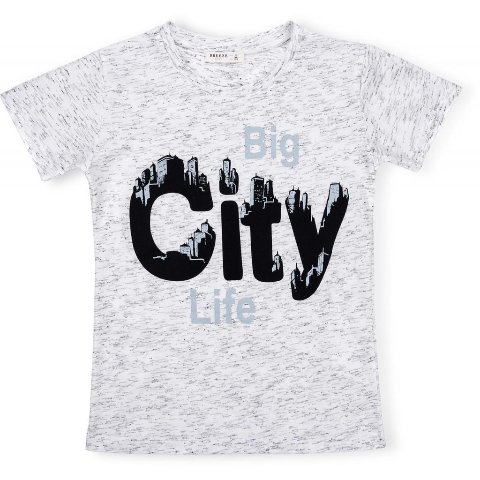 "Футболка детская Breeze ""BIG CITY LIFE"" (11129-134B-gray)"