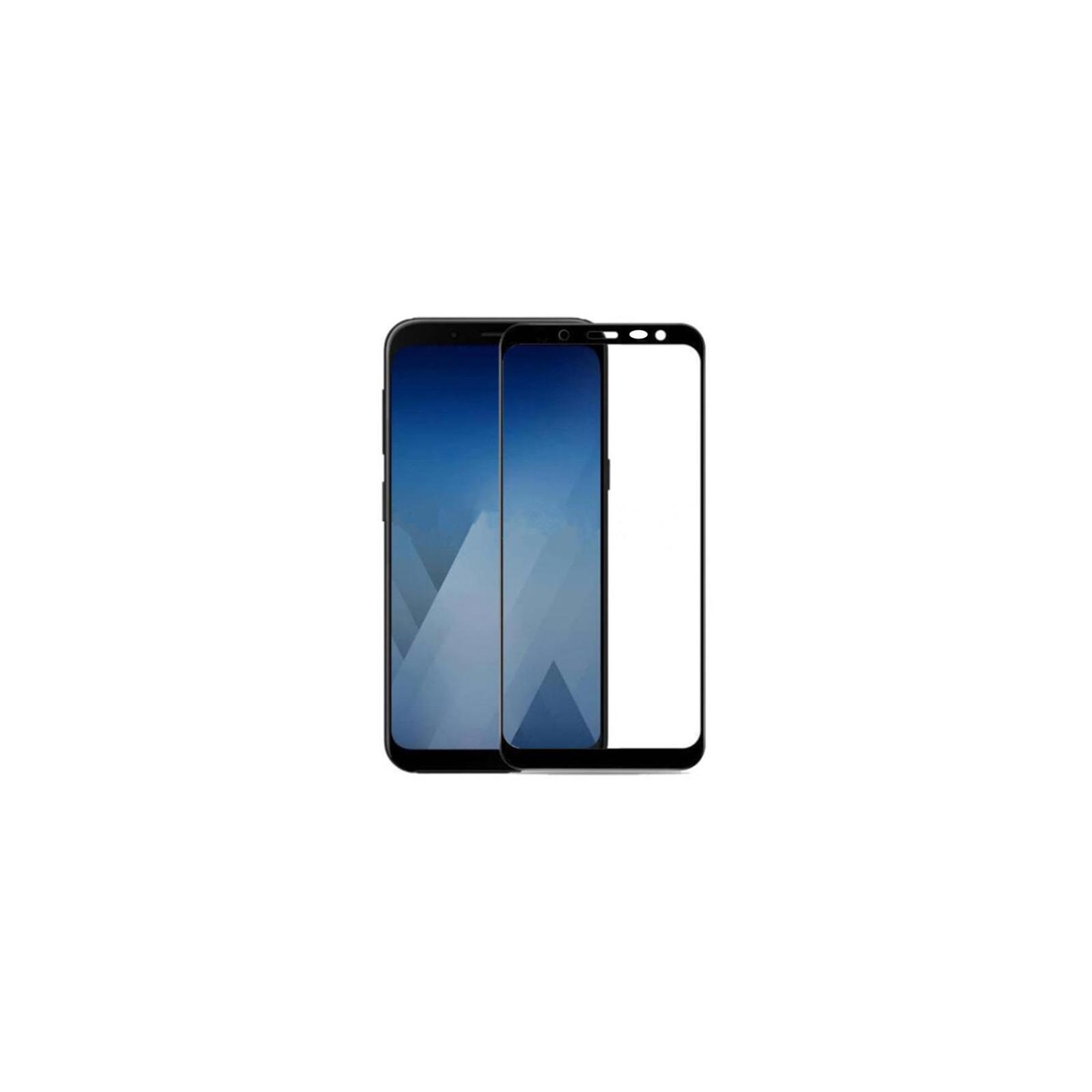 Стекло защитное Drobak для Samsung Galaxy J4 2018 Black 3D Full Cover (501608) изображение 2