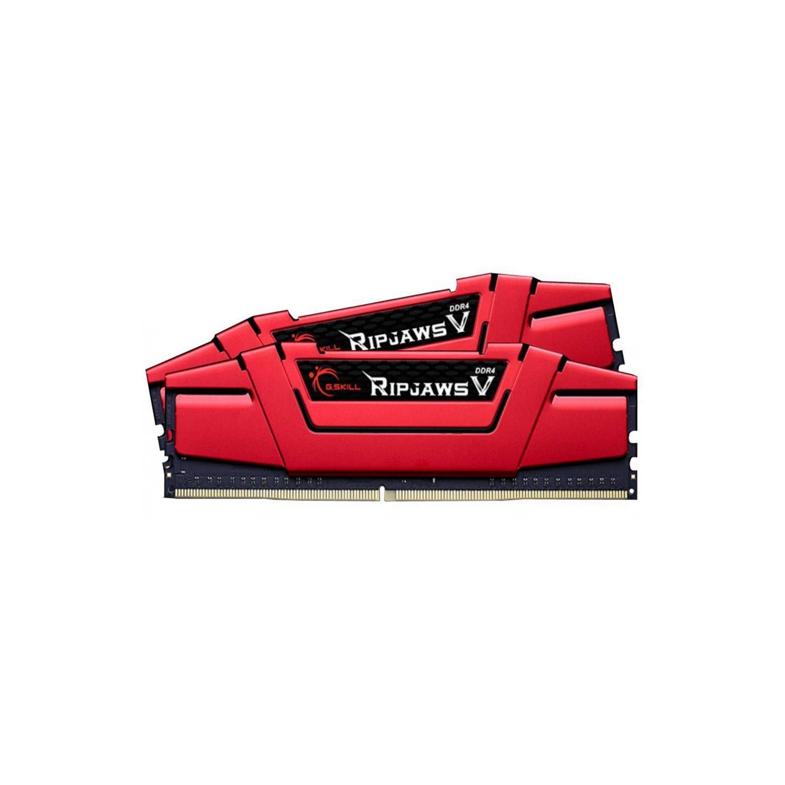 Модуль памяти для компьютера DDR4 16GB (2x8GB) 2400 MHz RipjawsV Red G.Skill (F4-2400C17D-16GVR) изображение 2
