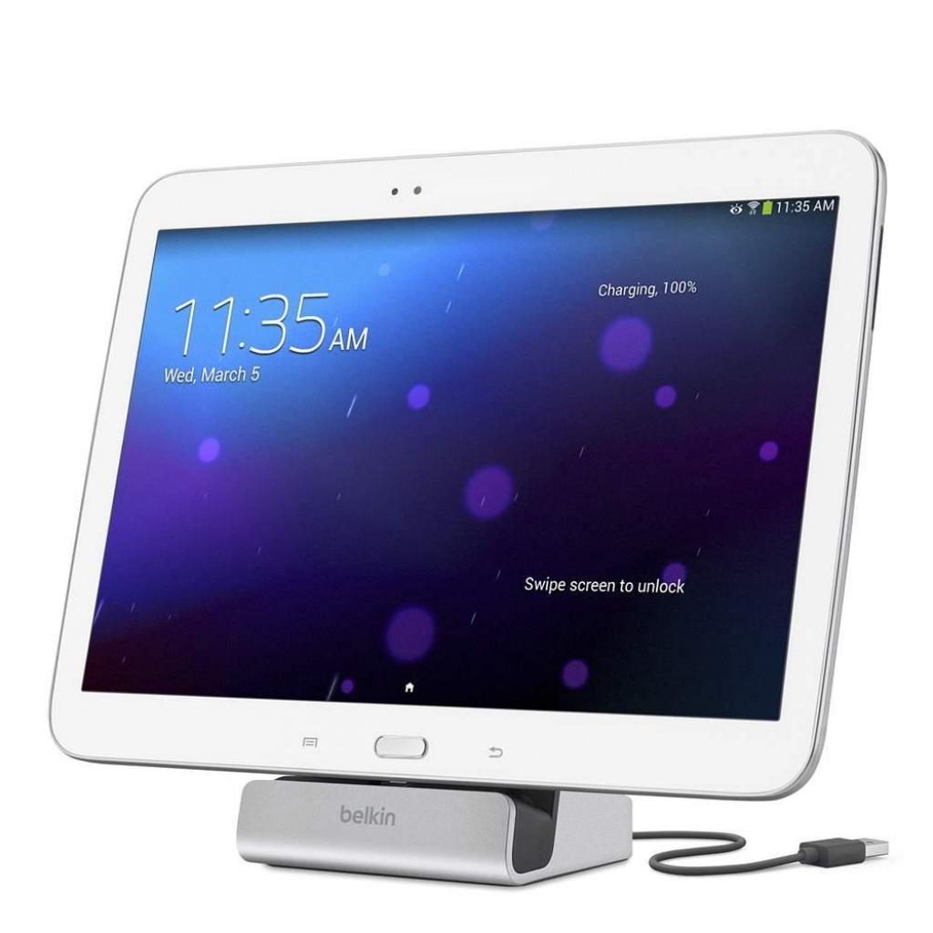Док-станция Belkin Charge+Sync Android Dock XL, Ph+Tab, SLV (F8M769bt) изображение 3