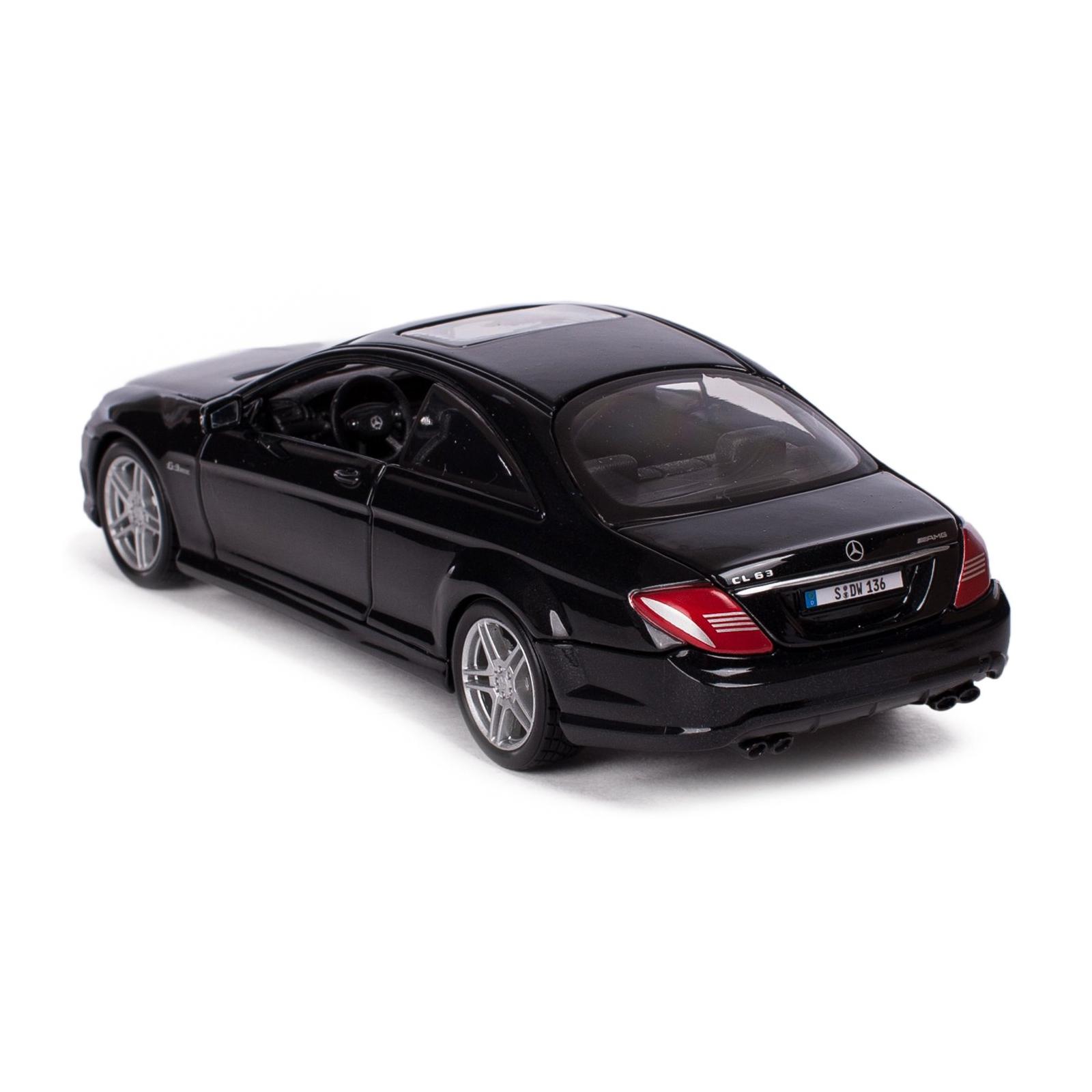 Машина Maisto Mercedes-Benz CL63 AMG (1:24) черный металлик (31297 met. black) изображение 2