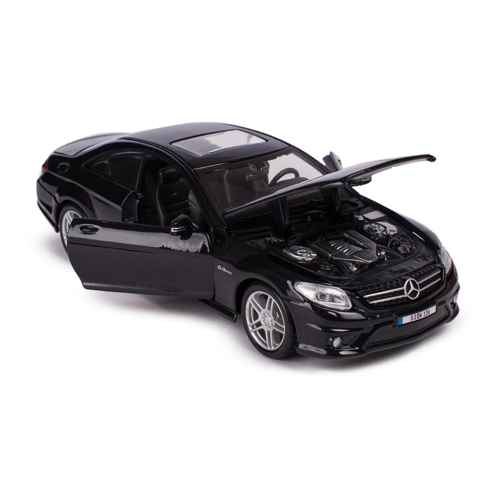 Машина Maisto Mercedes-Benz CL63 AMG (1:24) черный металлик (31297 met. black) изображение 3