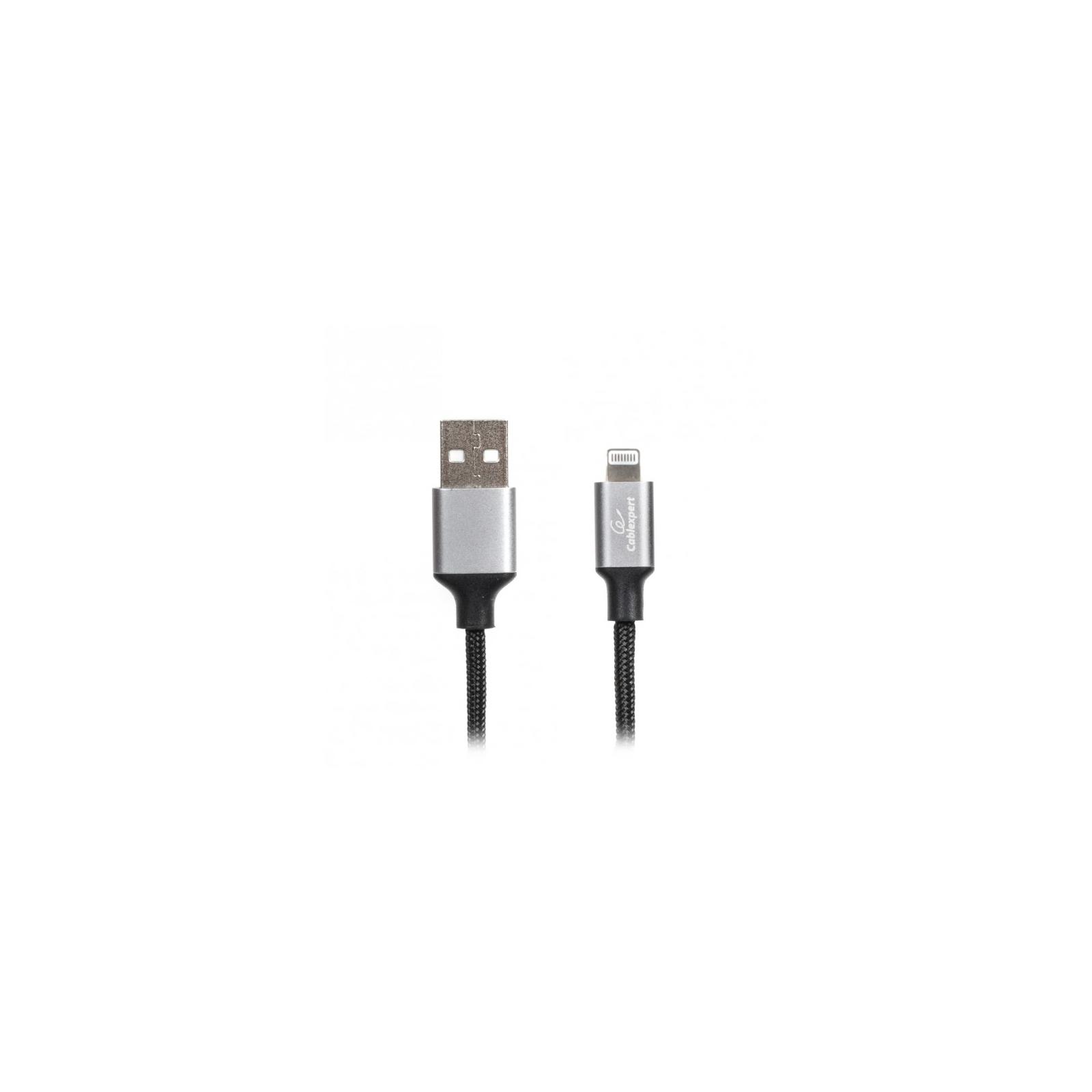 Дата кабель USB 2.0 AM to Lightning 1.0m Cablexpert (CCPB-L-USB-09BK)