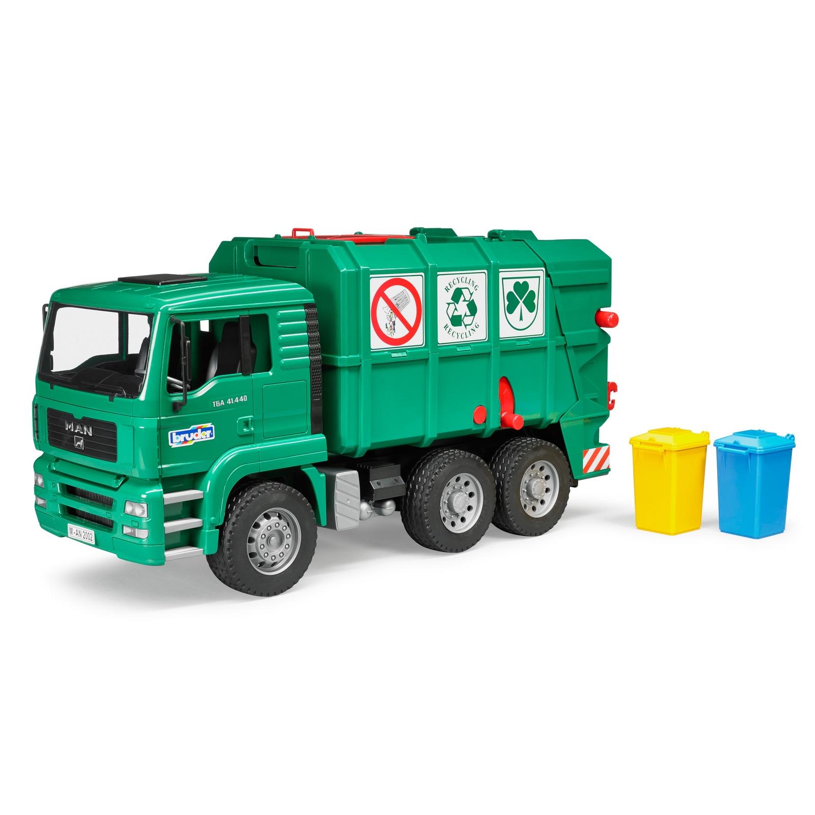 Спецтехника Bruder Мусоровоз MАN TGA зеленый М1:16 (02753)