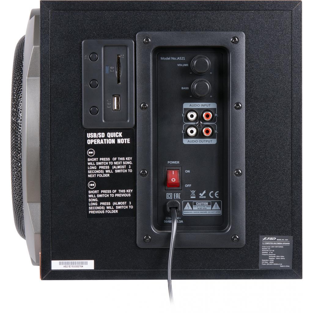 Акустическая система F&D A-521 USB black изображение 5
