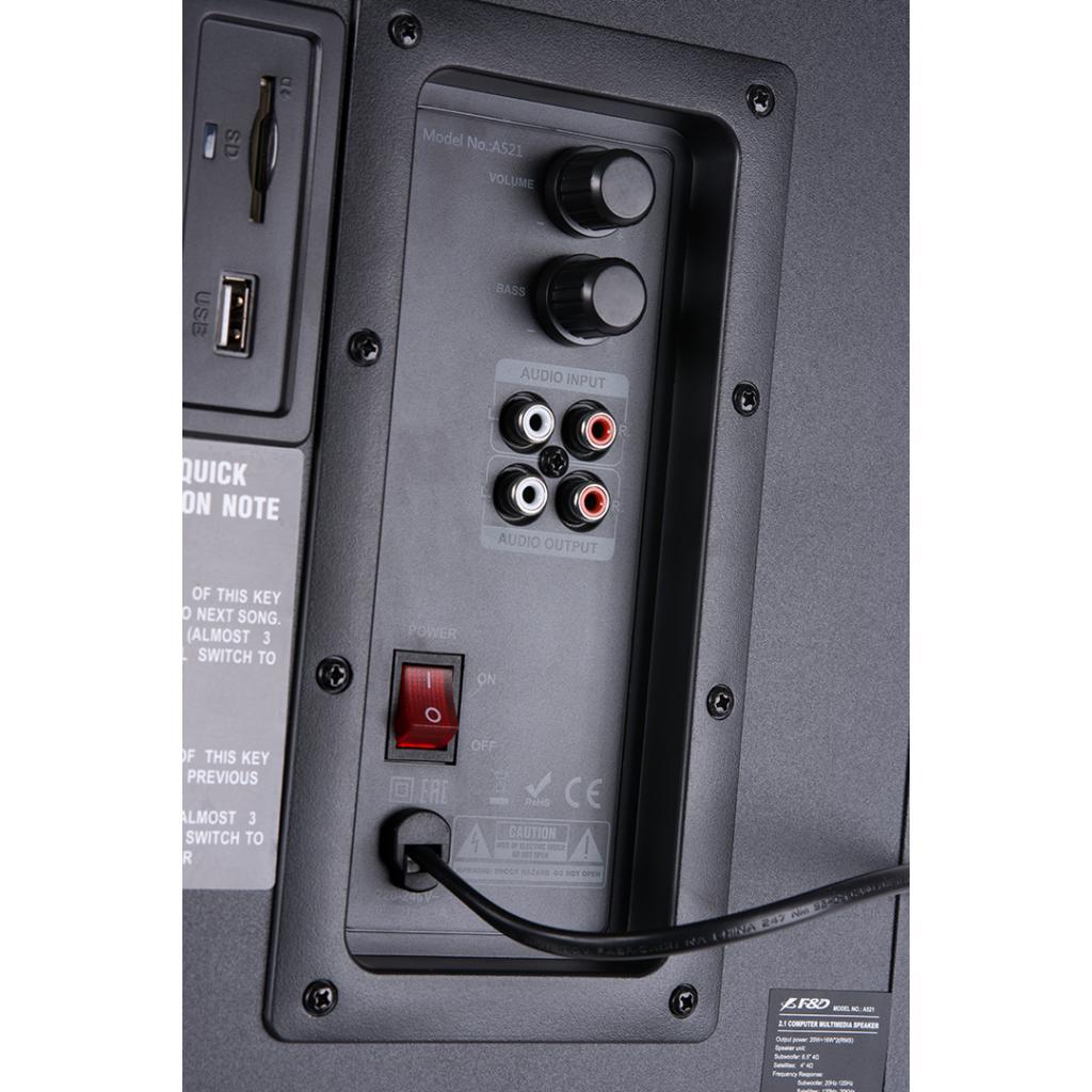 Акустическая система F&D A-521 USB black изображение 7