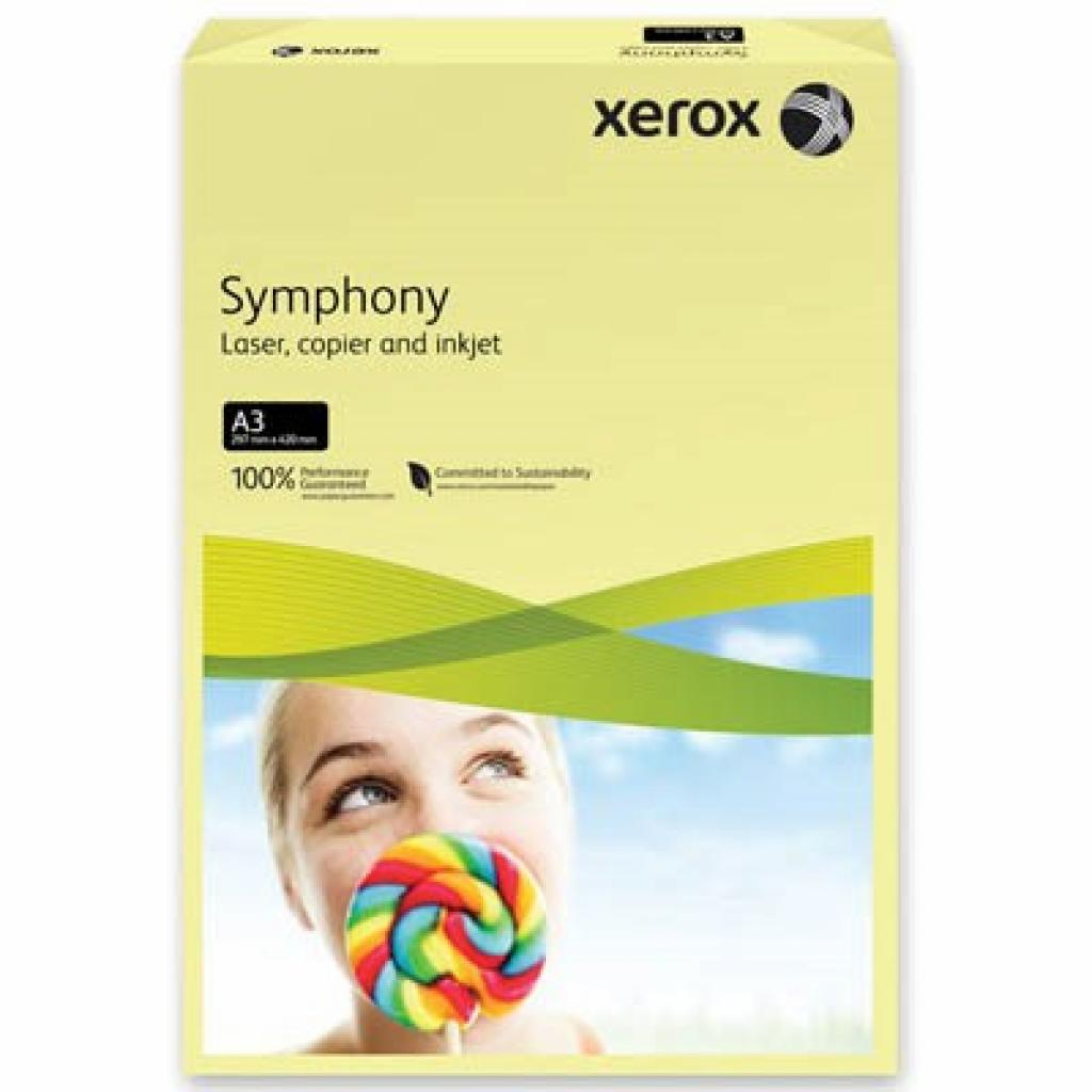 Бумага Xerox A3 SYMPHONY Pastel Yellow (80) A3 5 (003R91957)