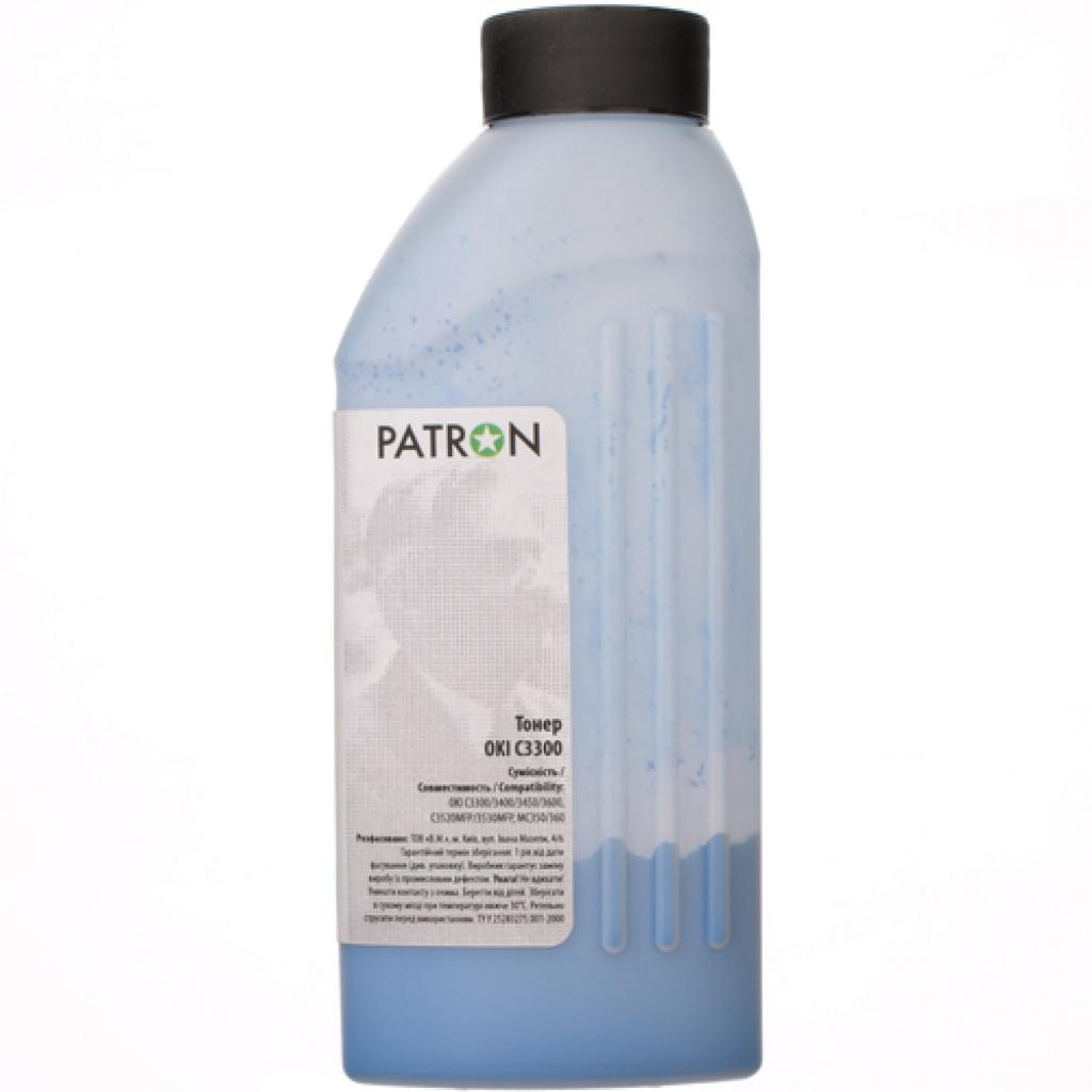 Тонер PATRON OKI C3300 CYAN 50г (T-PN-OC3300-C-050) изображение 2