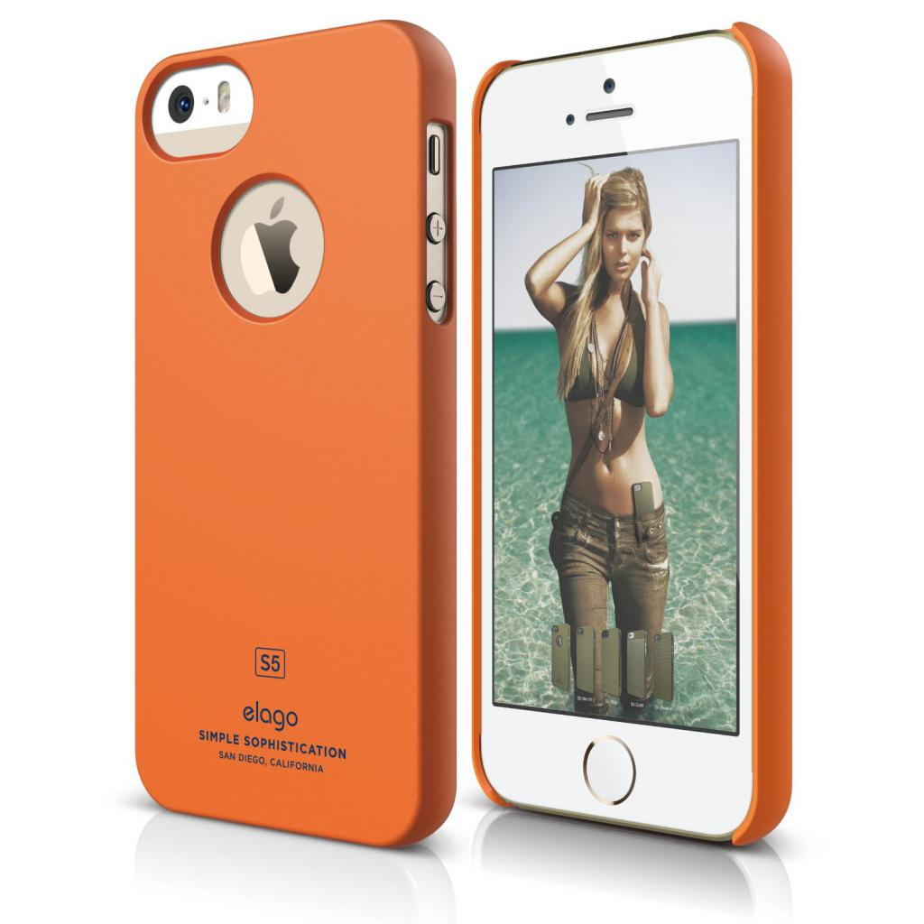 Чехол для моб. телефона ELAGO для iPhone 5 /Slim Fit Soft/Orange (ELS5SM-SFOR-RT)