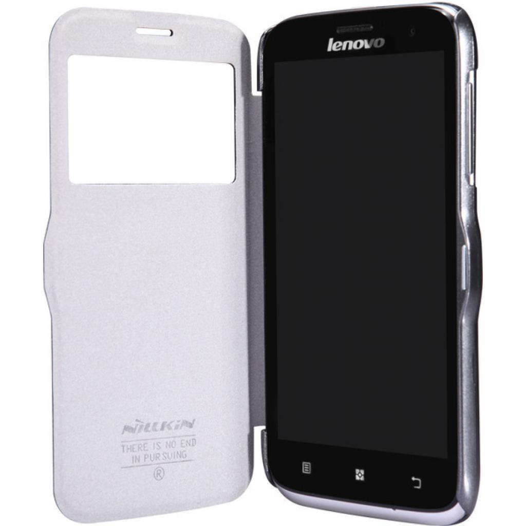 Чехол для моб. телефона NILLKIN для Lenovo A859 /Fresh/ Leather/Black (6164321) изображение 3