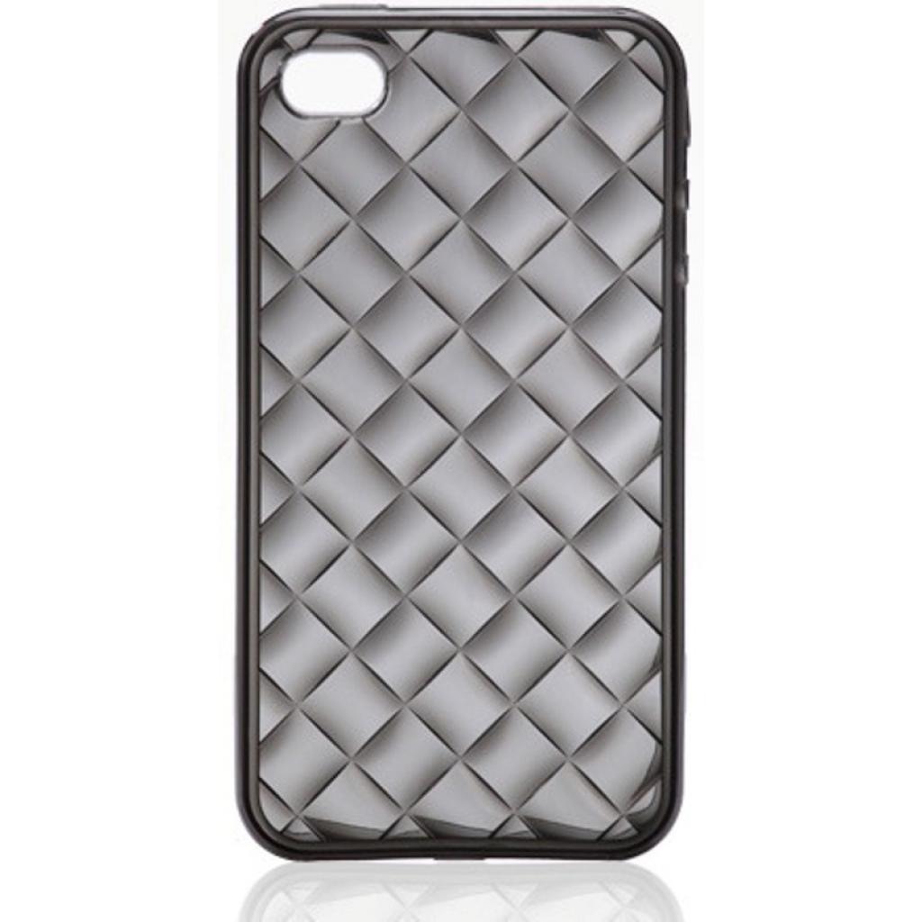 Чехол для моб. телефона VOORCA iPhone4 Crystal case черн (V-4C black)