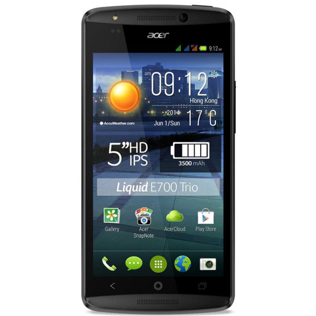 Мобильный телефон Acer Liquid E700 Triple SIM E39 Black (HM.HF9EE.003) изображение 2