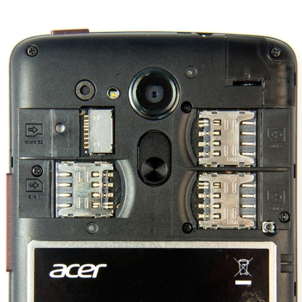 Мобильный телефон Acer Liquid E700 Triple SIM E39 Black (HM.HF9EE.003) изображение 6