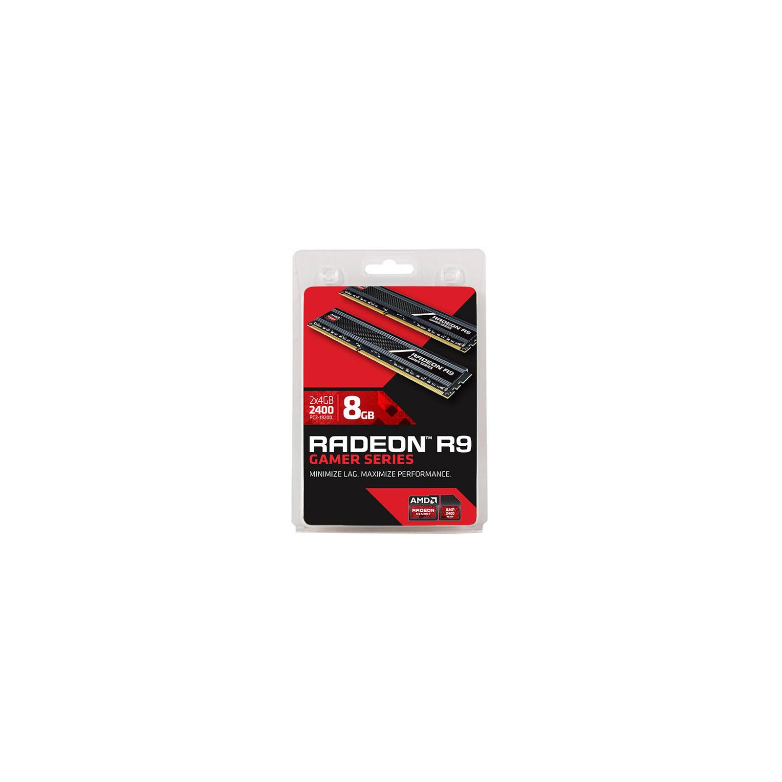 Модуль памяти для компьютера DDR3 8GB (2x4GB) 2400 MHz AMD (R938G2401U1K) изображение 3