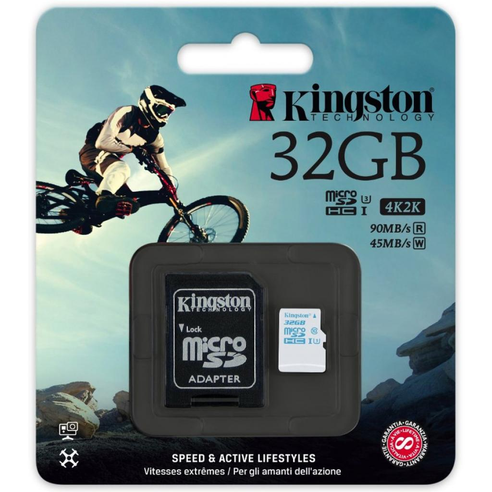 Карта памяти Kingston 32GB microSDHC class 10 UHS-I U3 (SDCAC/32GB) изображение 3