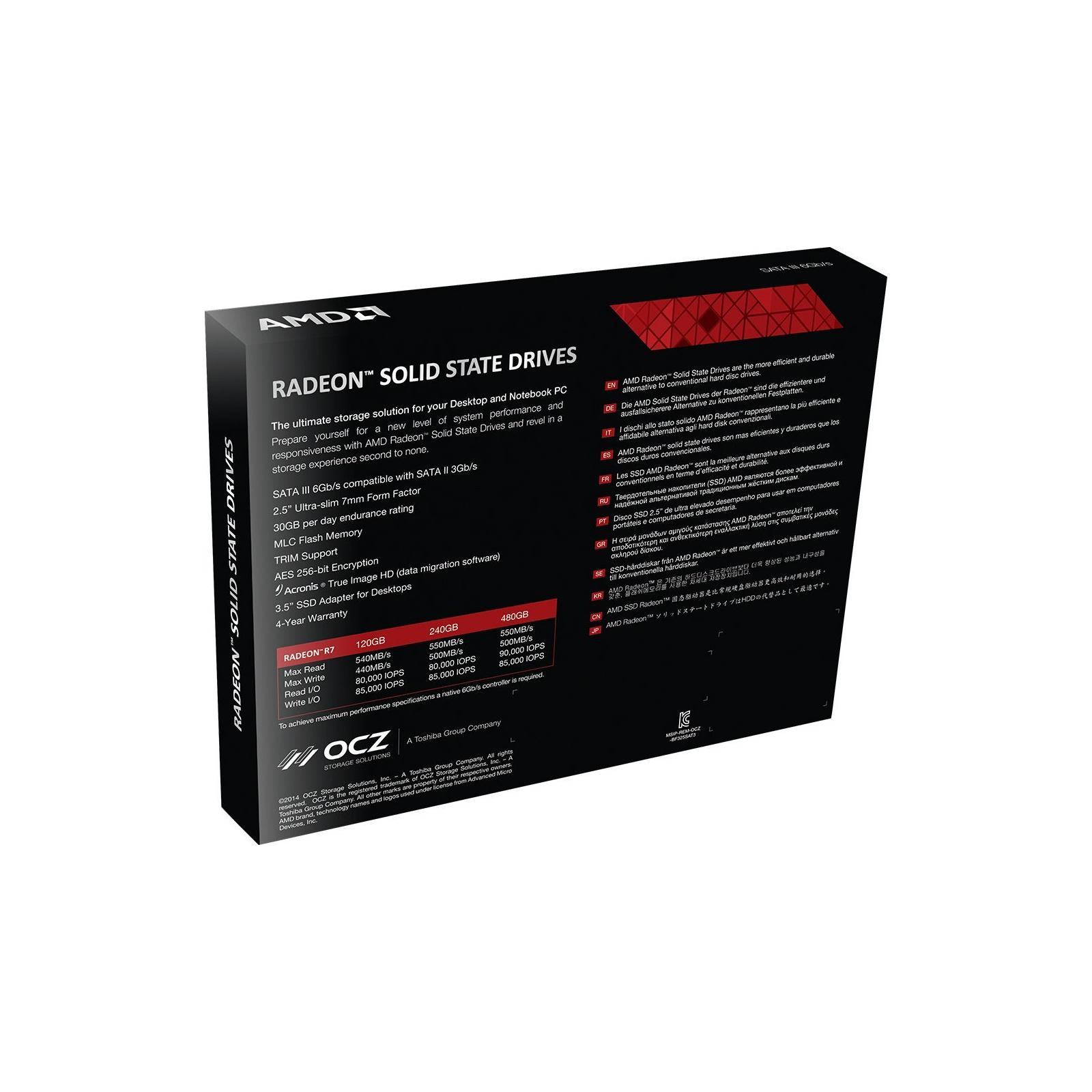 "Накопитель SSD 2.5"" 480GB AMD (R3SL480G) изображение 6"