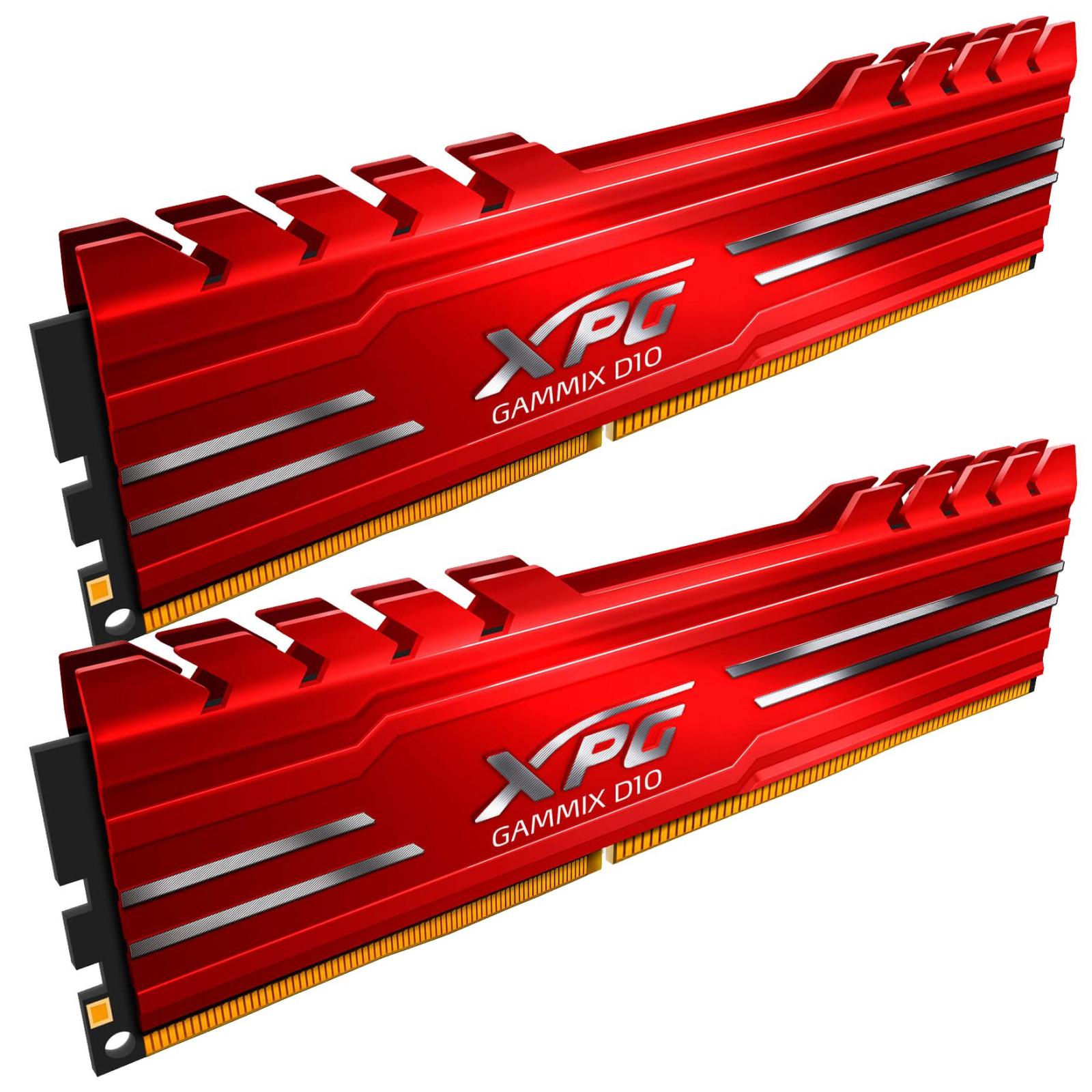 Модуль памяти для компьютера DDR4 8GB (2x4GB) 3000 MHz XPG Gammix D10 Red ADATA (AX4U3000W4G16-DRG) изображение 2