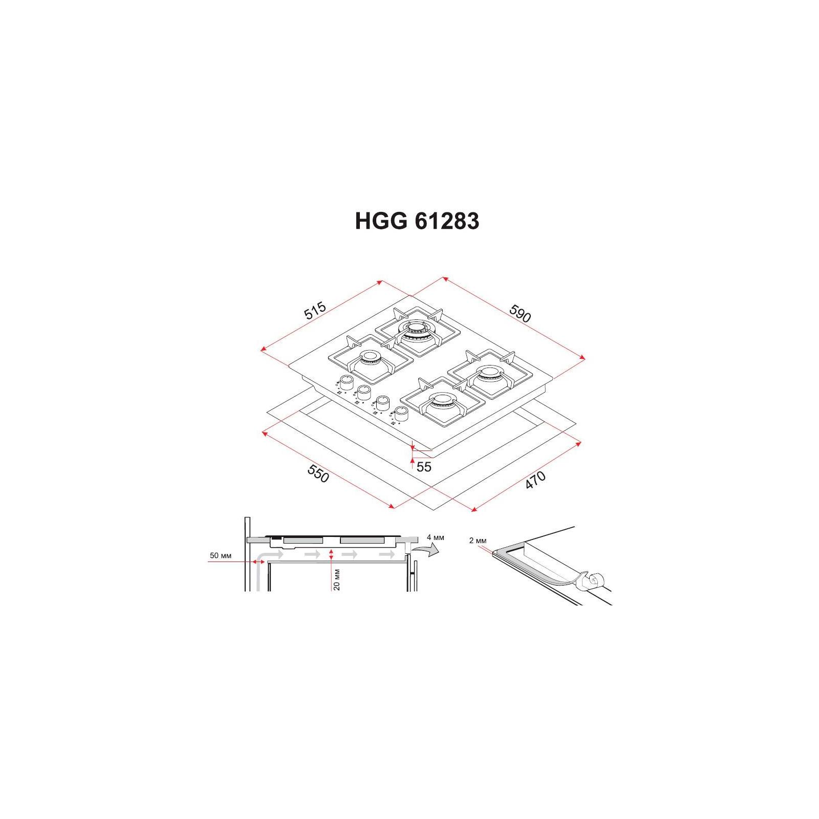Варочная поверхность PERFELLI HGG 61283 WH изображение 7