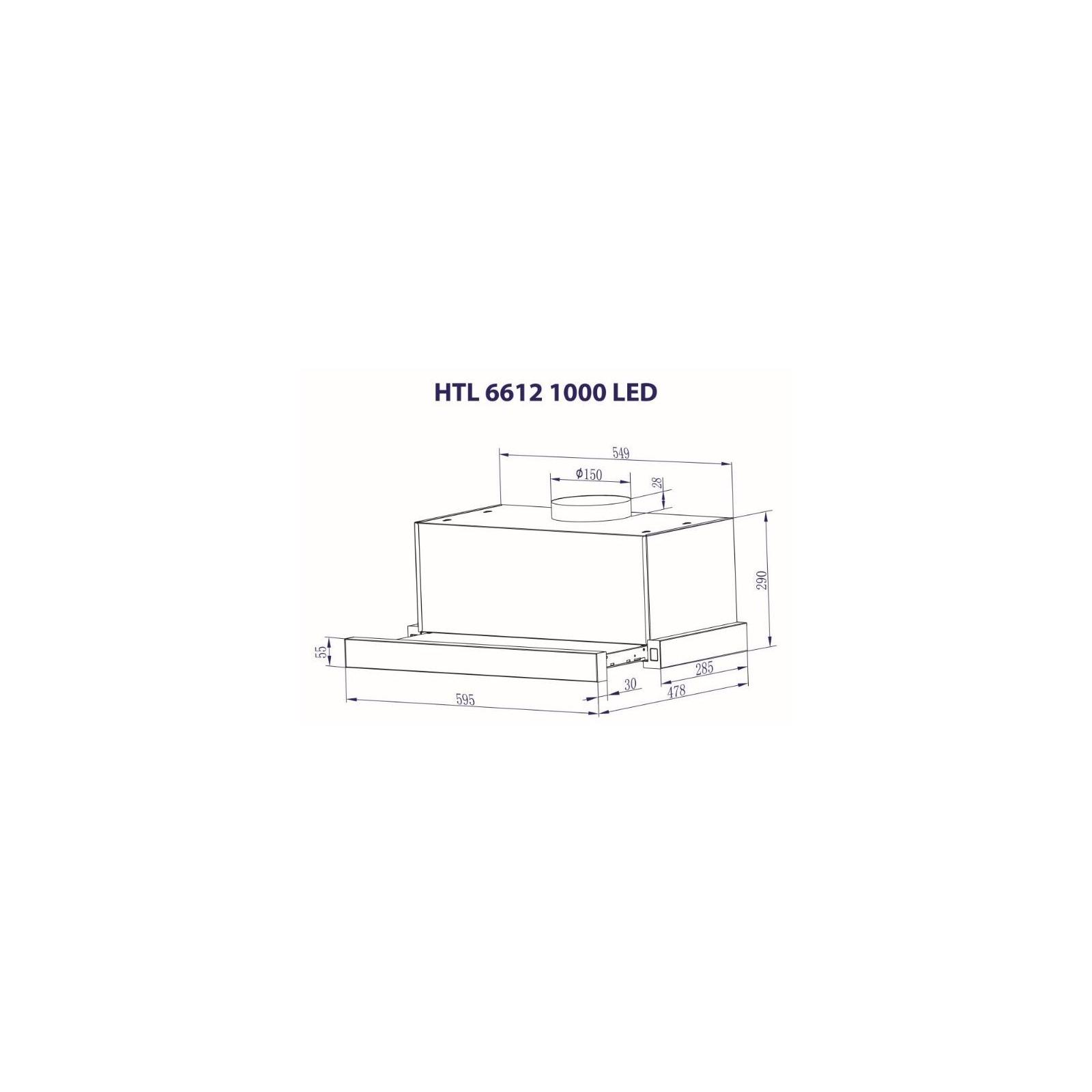 Вытяжка кухонная MINOLA HTL 6612 BL 1000 LED изображение 9