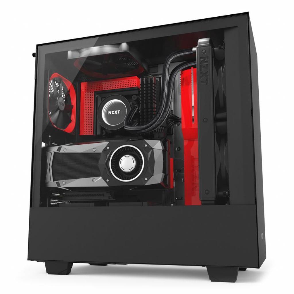 Корпус NZXT H500i Smart Black Red (CA-H500W-BR) изображение 2