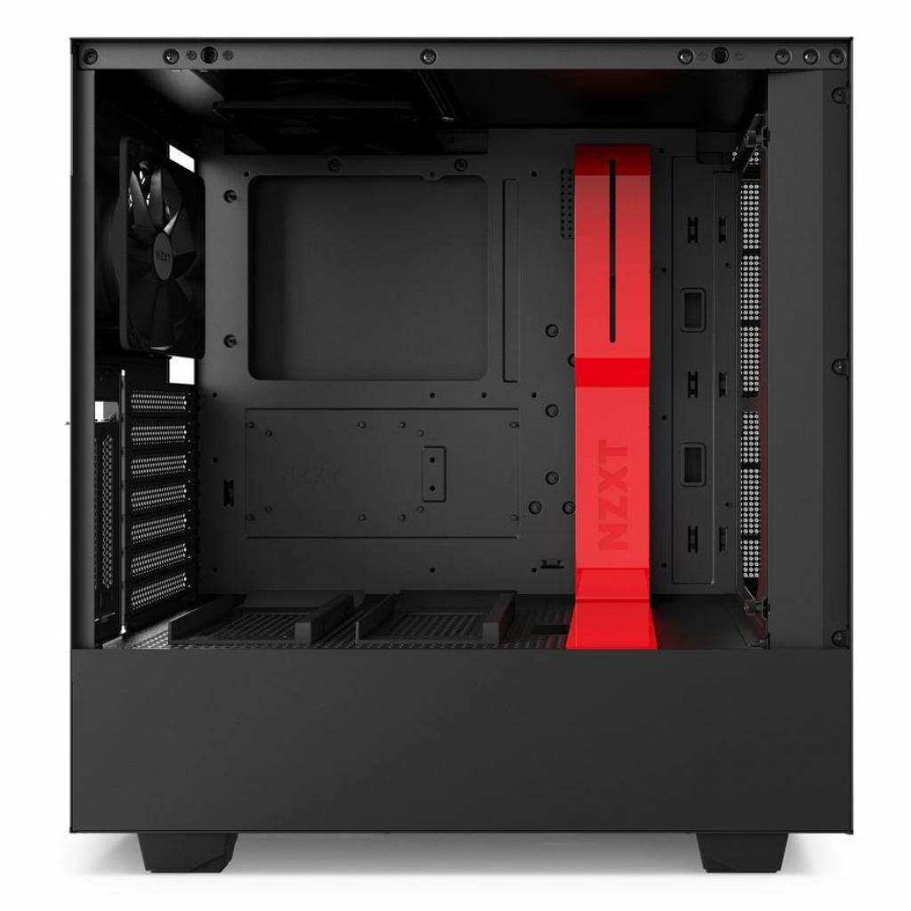 Корпус NZXT H500i Smart Black Red (CA-H500W-BR) изображение 4