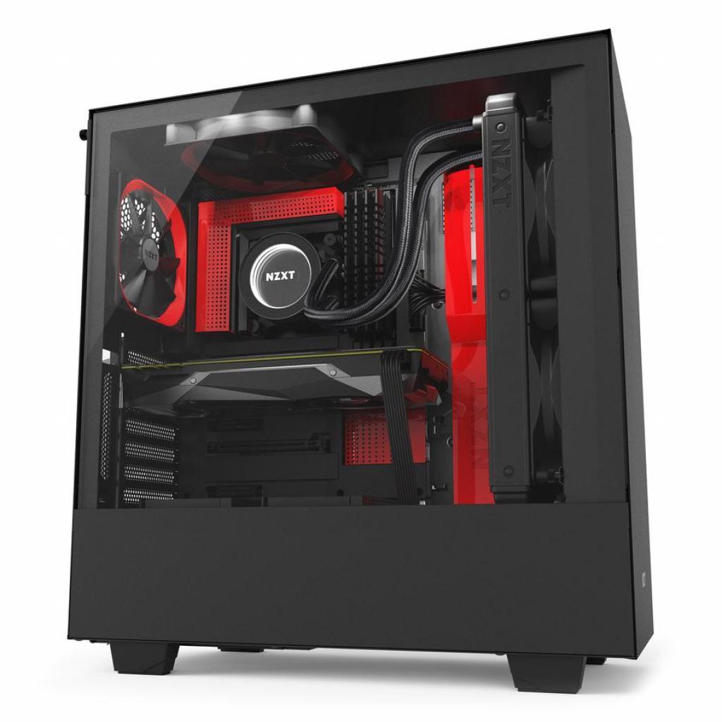 Корпус NZXT H500i Smart Black Red (CA-H500W-BR) изображение 7