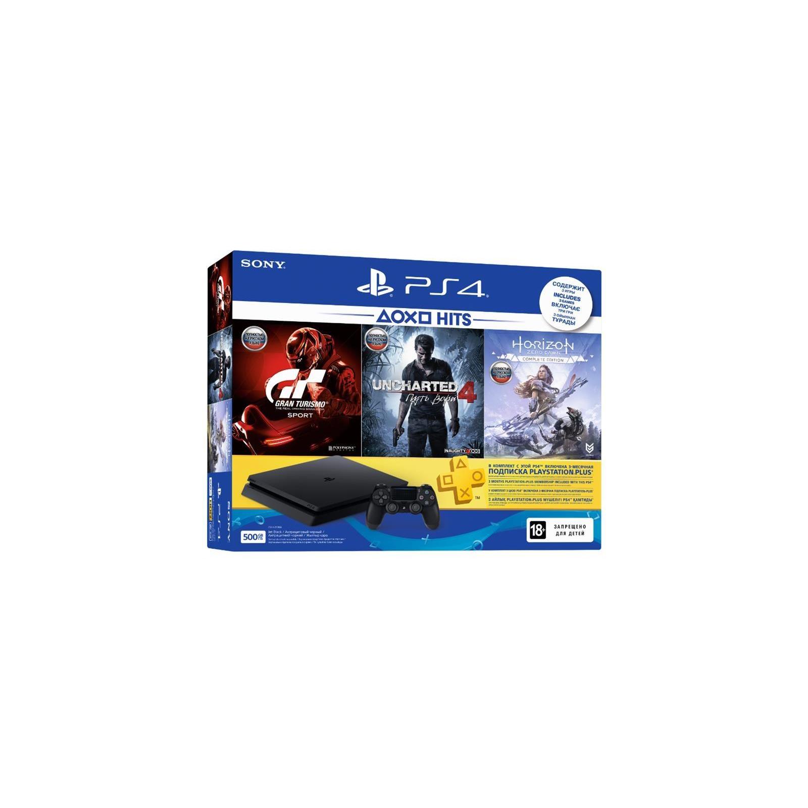 Игровая консоль SONY PlayStation 4 Slim 500 Gb Black (HZD+GTS+UC4+PSPlus 3М) (9779117) изображение 9