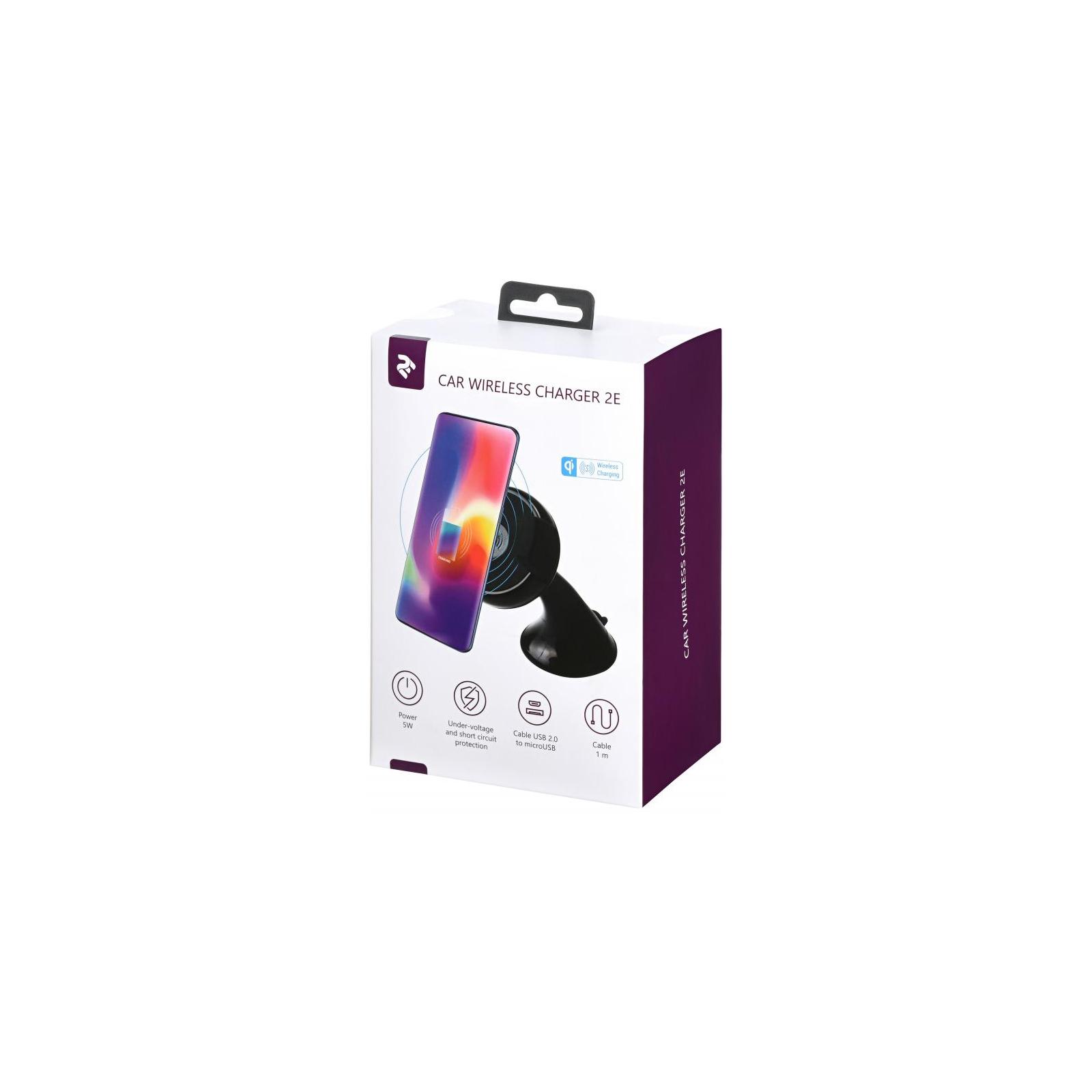 Зарядний пристрій 2E Car Mount Rotating Wireless Charger, 5W, black (2E-WCQ01-03) зображення 8