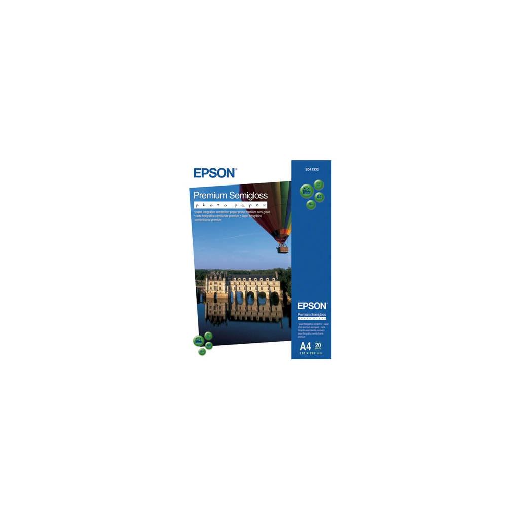 Бумага EPSON A4 Premium Semigloss Photo Paper (C13S041332)