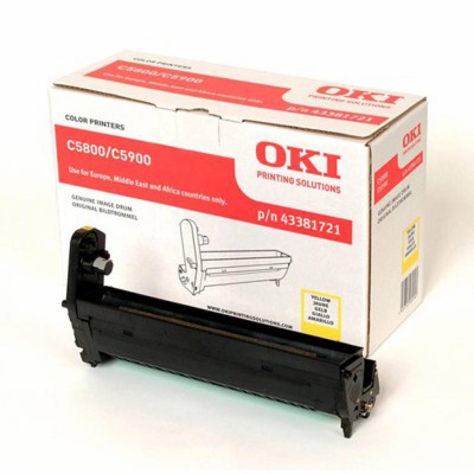 Фотокондуктор OKI C5800/5900/C5550 yellow (43381721)