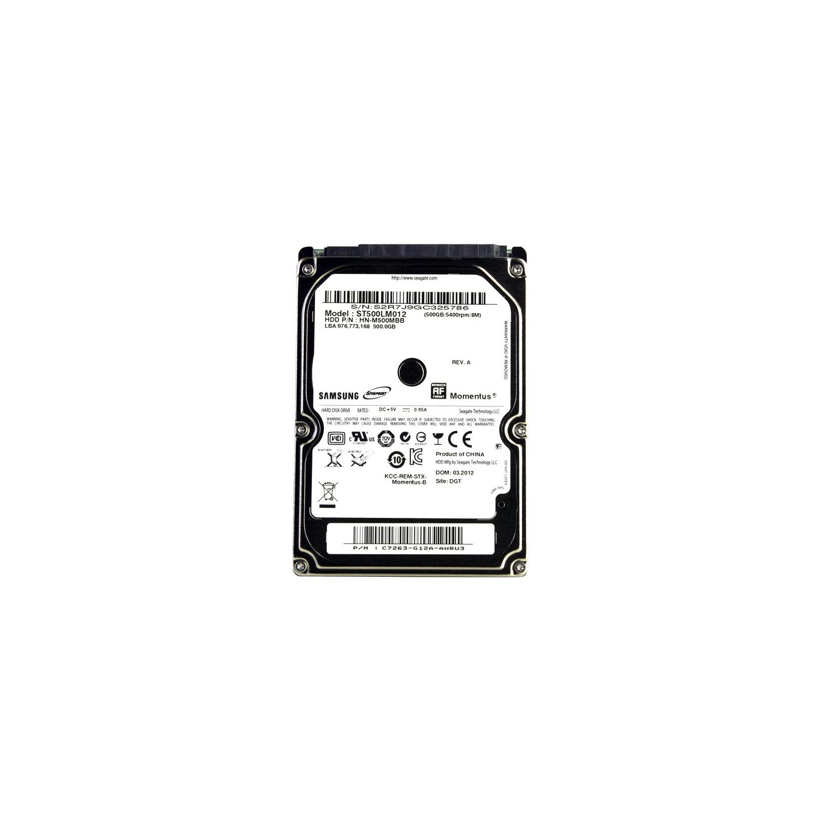 """Жесткий диск для ноутбука 2.5"""" 500GB Seagate (ST500LM012)"""