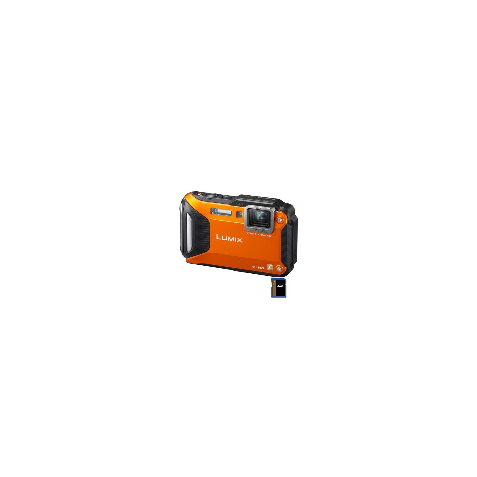 Цифровой фотоаппарат PANASONIC Lumix DMC-FT5 orange (DMC-FT5EA-D)