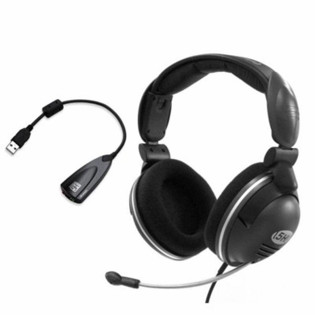 Наушники STEELSERIES 5H v2 COMBO+ Sound Card USB (61001)