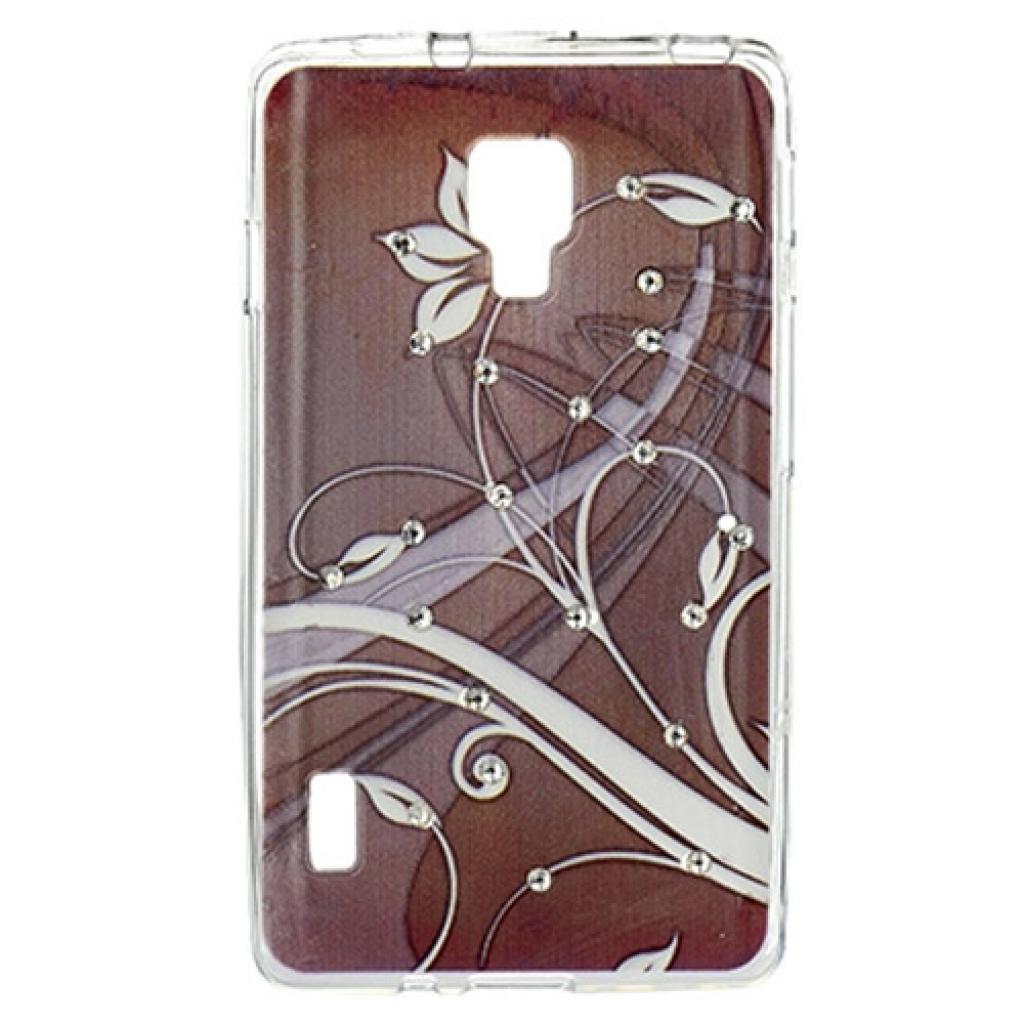 Чехол для моб. телефона для LG Optimus P713 (Brown) Cristall PU Drobak (211588)