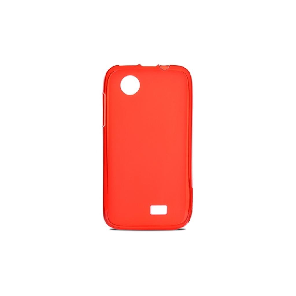 Чехол для моб. телефона Drobak для Lenovo A369 /Elastic PU/ Red Clear (211450)