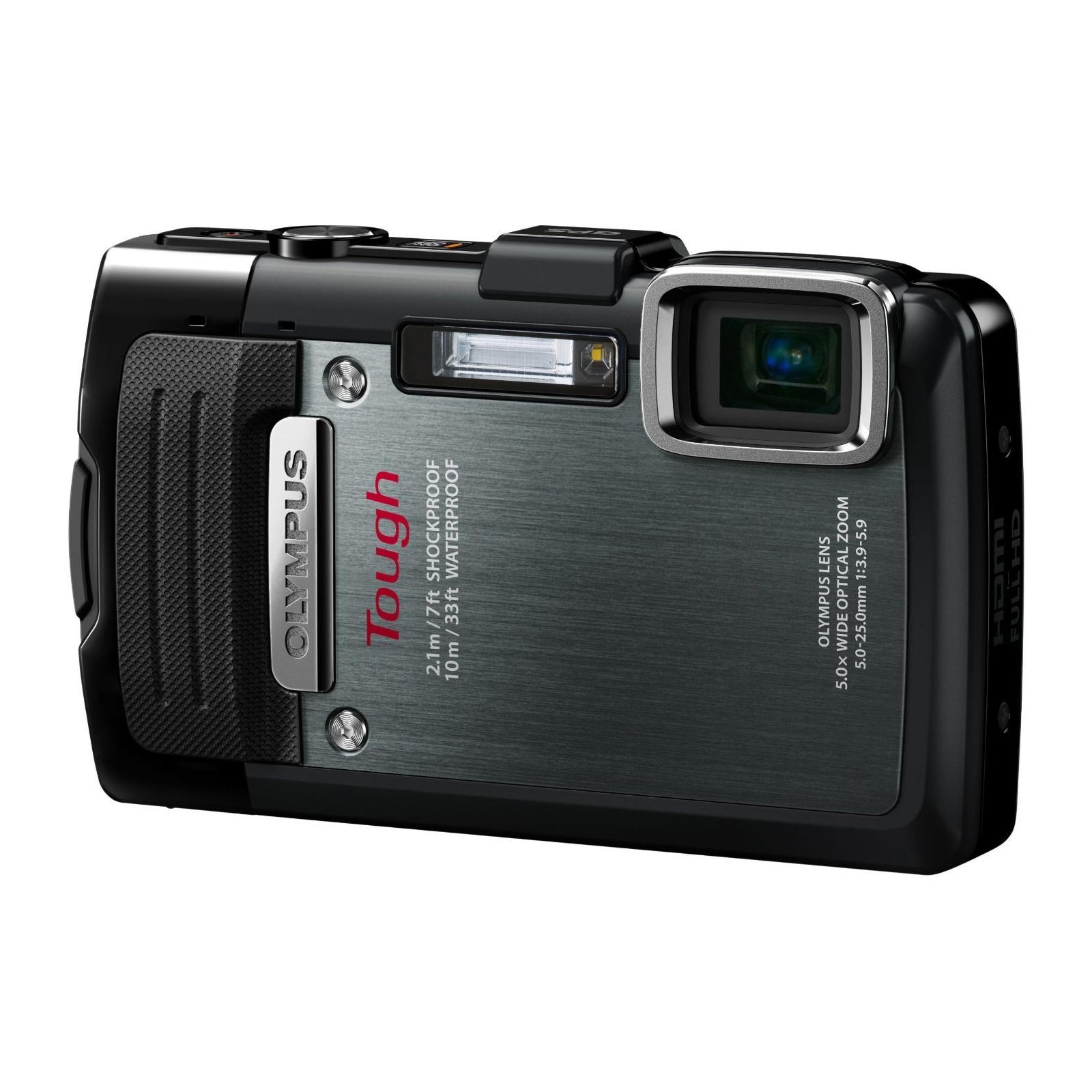 Цифровой фотоаппарат OLYMPUS TG-835 Black (Waterproof - 10m; GPS) (V104131BE000)